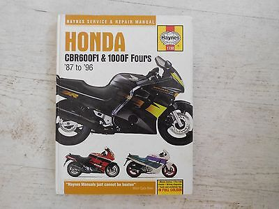 Haynes Manual 1730 - Honda CBR600F1 & 1000F Fours '87 to '96