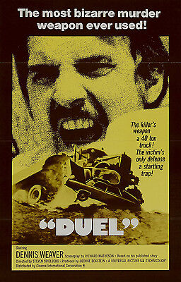 Duel Laminated Mini A4 Movie Poster Print Speilberg