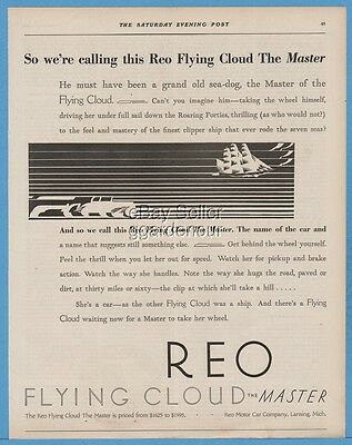 1928 Reo Motor Car Company Lansing Michigan The Master Antique Automobile Car Ad