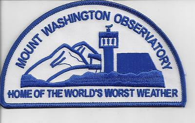 Mount Washington Observatory Nh Souvenir Patch -Home Of The Worlds Worst Weather