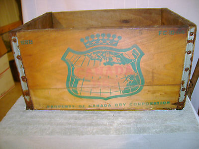 Canada Dry Soda Wooden Crate 1964 Wooden Crate