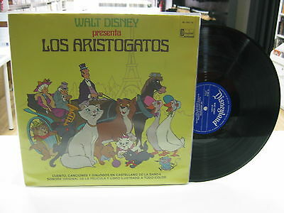 Los Aristogatos Lp Spanish Walt Disney 1971 Gatefold