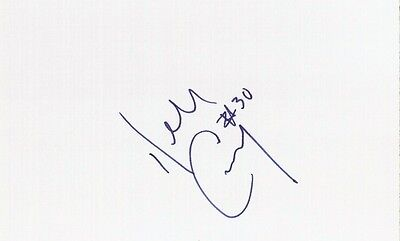 Autographed Index Card Dell Curry Charlotte Hornets Shooting Guard/Small Forward