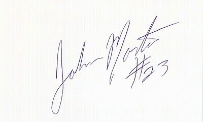 Autographed Index Card - John Morton Cleveland Cavaliers Miami Heat Point Guard