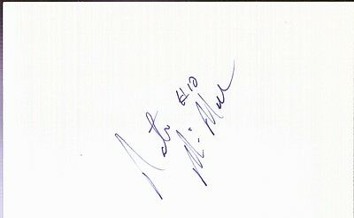 Autographed Index Card - Nate McMillan Seattle Supersonics Guard/Head Coach