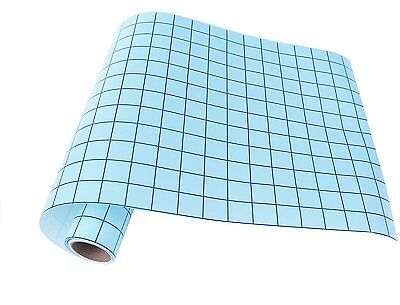 12 in x 10 ft clear transfer tape with blue alignment grid for vinyl   craft
