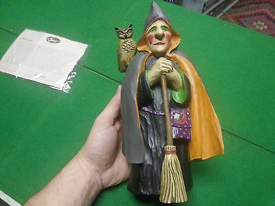 Leo Smith Midwest Cannon Falls Witch Owl Folk Art Signed Limited Edition 75/1000