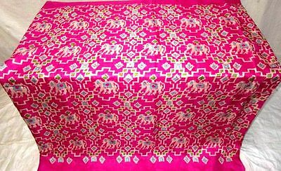 Rani Pure Silk 4 yd Vintage Antique Sari Saree Stage performance Material #12G7C