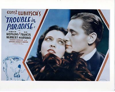 D TROUBLE IN Paradise Kay Francis Miriam Hopkins Lubitsch Sp