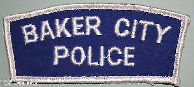 Vintage 1960 Baker City Police Patch - Mint Never Used - Oregon / Or Us **rare**