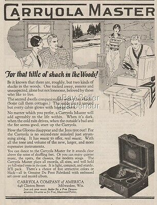 1927 Carryola Master portable phonograph Pick Up record player Milwaukee WI ad