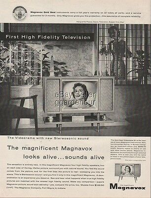 1956 Magnavox Fort Wayne Indiana Videorama 21 Television Marguerite Piazza Ad