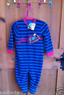 New M&S Age 6 - 9 Months Thomas Tank Onesie Baby grow Non Slip BNWT PJS FLEECE *