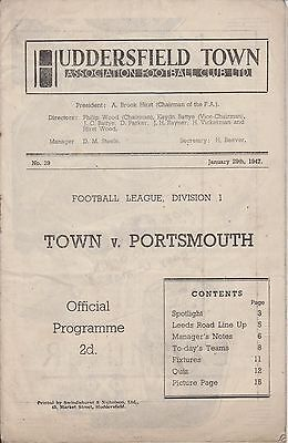 HUDDERSFIELD TOWN v PORTSMOUTH 46-47 LEAGUE  MATCH
