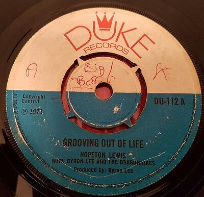 "Hopeton Lewis Grooving Out Of Life UK 7"" Listen !"