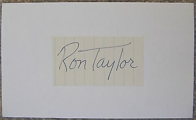Signed RON TAYLOR Cut Index Autograph ABA New York Nets / Virginia Squires