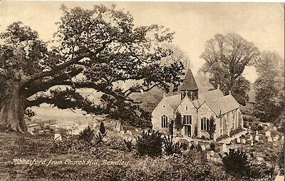 Ribbesford From Church Hill Bewdley C1930 Fw Harris The Library Bewdley Rppc