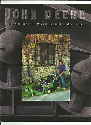 1997 John Deere Walk Behind Mowers Gs Series Brochure