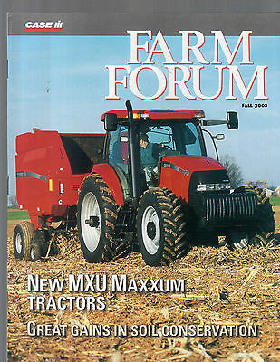 Fall 2003 Farm Forum Case International Tractor Magazine Brochure