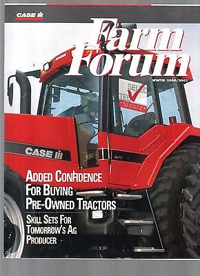 2001 Case Ih  International Tractor & Equipment Farm Forum Magazine Brochure
