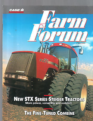 Fall 2000 Farm Forum Case International Tractor Magazine Brochure