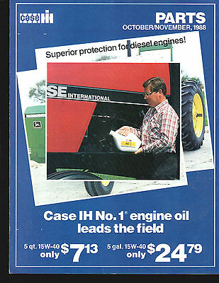 1988 Case Ih International Tractor Fall Oct Nov Parts Brochures