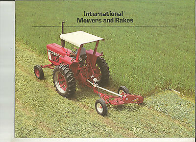 1980S Ih International Tractor Mowers & Rakes Brochure Catalog
