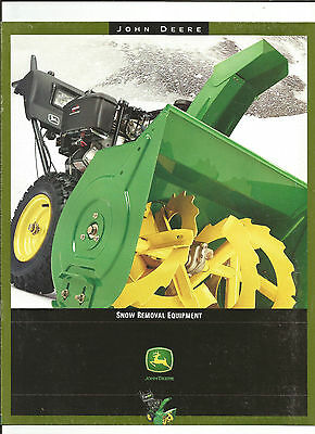 2001 John Deere Snow Removal Equipment Brochure