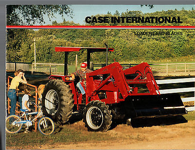 1990S Case International Tractor Loaders & Blades Equipment Brochure