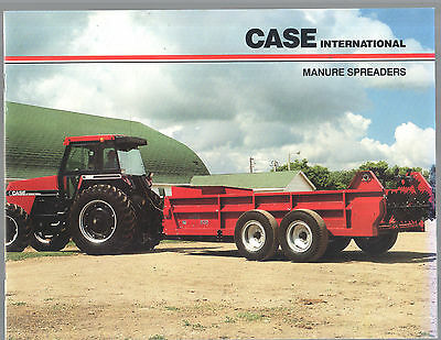 1990S Case International Tractor Manure Spreaders Equipment Brochure