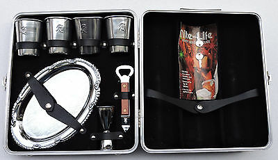 Executair Vintage Travel Portable Bar Set in Hard Shell Case with Keys Vintage