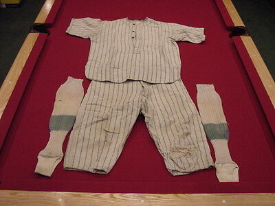 VINTAGE Turn of the Century 1920's Wool Baseball Uniform, AWESOME!!