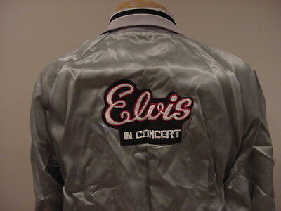 BEAUTIFUL 1970's Elvis Presley In Concert Adult Sz Md Silver Jacket, VERY RARE!!