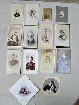 14 Vintage Asst'd.CDVs, MEN,WOMEN,CHILDREN,C.1860-90,Various Photographers