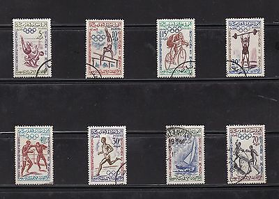 Morocco 1960 Olympic Games Set VFU SG84-91