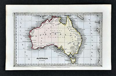 1834 Starling Map Australia New Holland & South Wales Sydney Unexplored Region