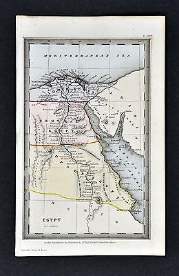 1834 Starling Map - Egypt - Cairo Alexandria Memphis Thebes Nile Delta Red Sea