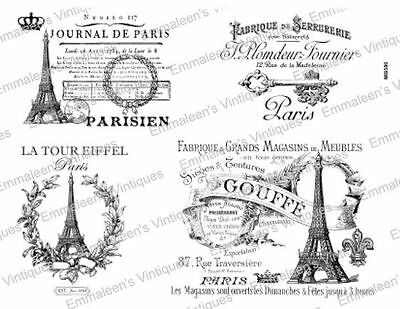 Vintage French Advertising Labels Furniture Transfers Waterslide Decals MIS580