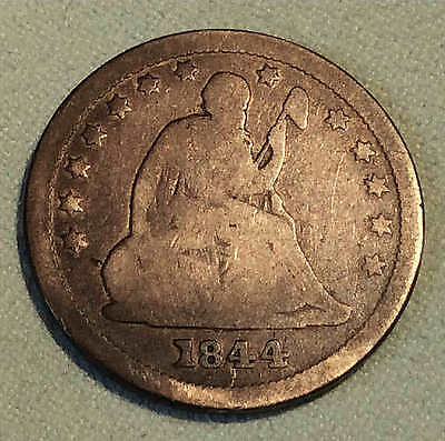 1844 o Seated Quarter Scarce Early Date FREE SHIPPING