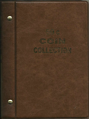 VST AUSTRALIAN 50c COIN ALBUM for 50c COLLECTION 1966 - 2018 BROWN COLOUR