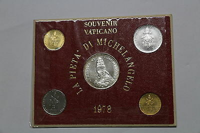 Vatican Paul Vi Old Coin Set 1978 With Medal A48 Cg31