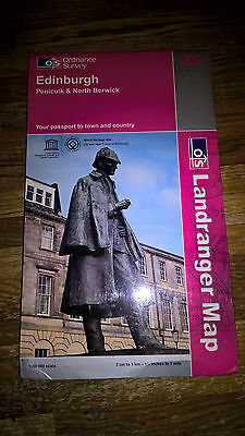 Edinburgh Penicuik North Berwick Ordnance Survey Landranger Map 66