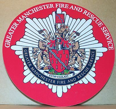Fire and Rescue Service Greater Manchester vinyl sticker.