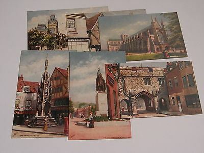 SET OF SIX TUCK POSTCARDS - WINCHESTER - OILETTE No 7232.