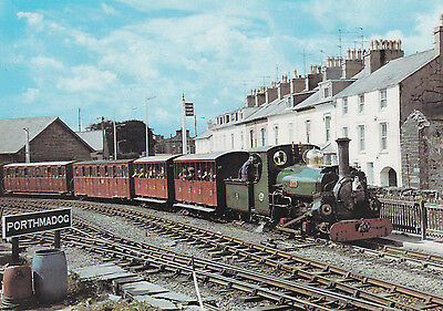 Festiniog Railway Postcard with 2 different Railway Private Stamps - 1981 - (EU)