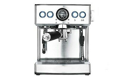 New Silvery Capacity 2.1L Office Home Commercial Semi-Automatic Coffee Maker &