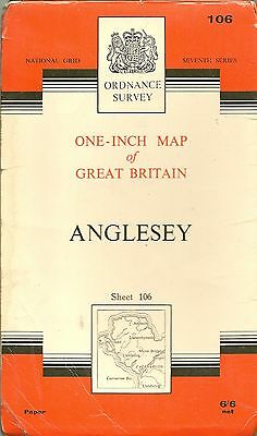 Ordnance Survey Map No 106 ANGLESEY - 1962