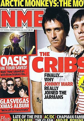 CRIBS / GLASVEGAS / LATE OF THE PIER / AC/DC / CLASH NME 18 Oct 2008