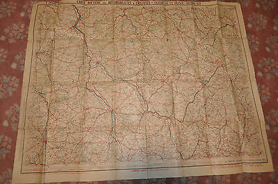 ~1910 Map for Automobiles and Cyclists East Central France by A Taride