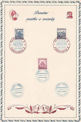 Slovakian  Prestige Stamp Souvenir 1940 With  Special Cancels   R3014